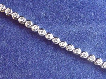 Diamond Tennis Bracelet  18 ct white Gold