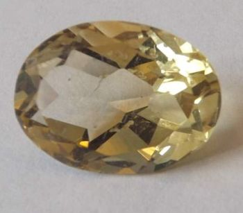 Oval Citrine 9.12cts  16mm x 12mm W00394