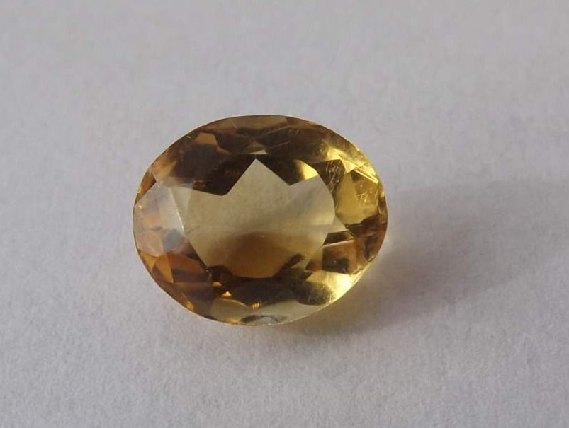 Citrine Oval Mixed Cut 4.53ct 11.5mm x 9.5mm