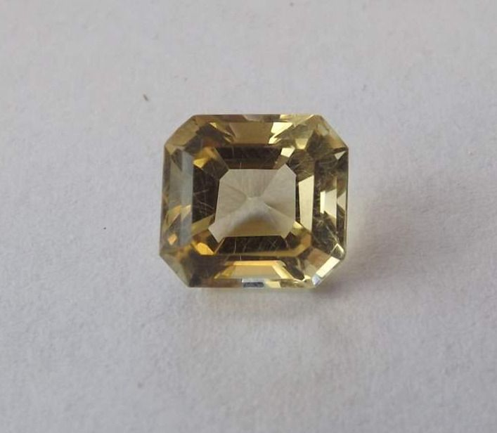 Citrine 2.41cts 8mm Square Trap Cut