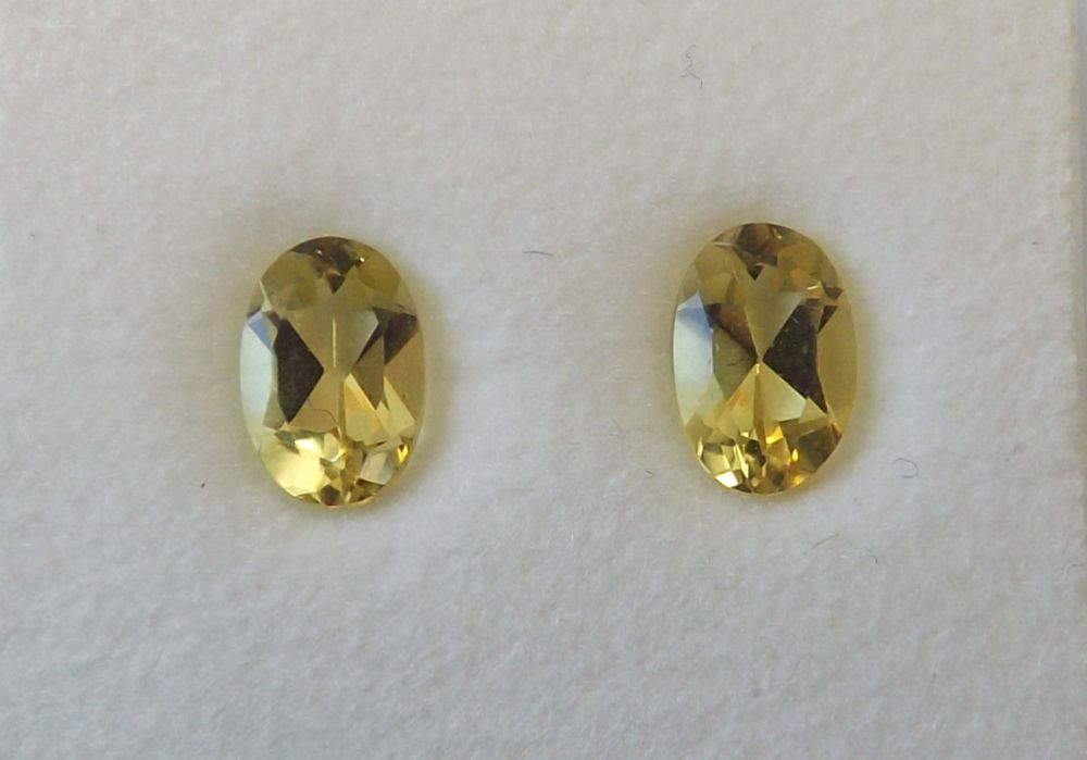 Yellow Beryl Oval 0.91cts  6mm x 4mm