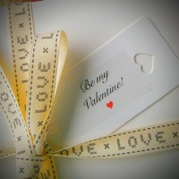 be my valentine gift tag