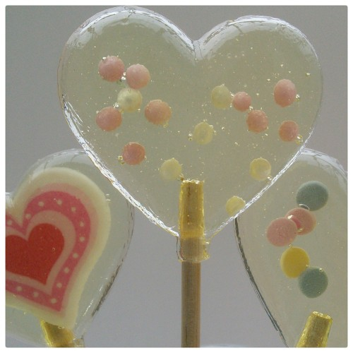 Pink and White Pearls Lollipop