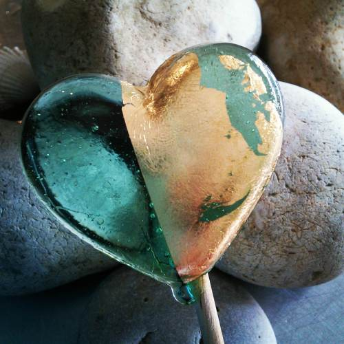 Beach Glass Lollipops