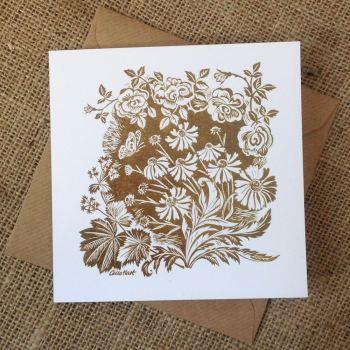 Late Summer Roses - greetings card