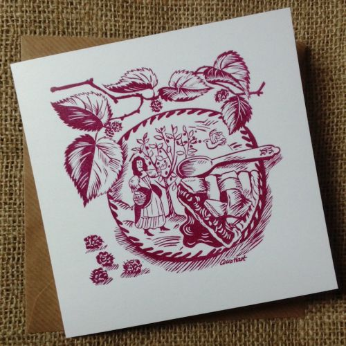 <!-- 006 -->Mulberries - greetings card