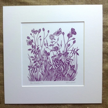 The Meadow - linocut