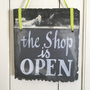 Shop OPEN close-up