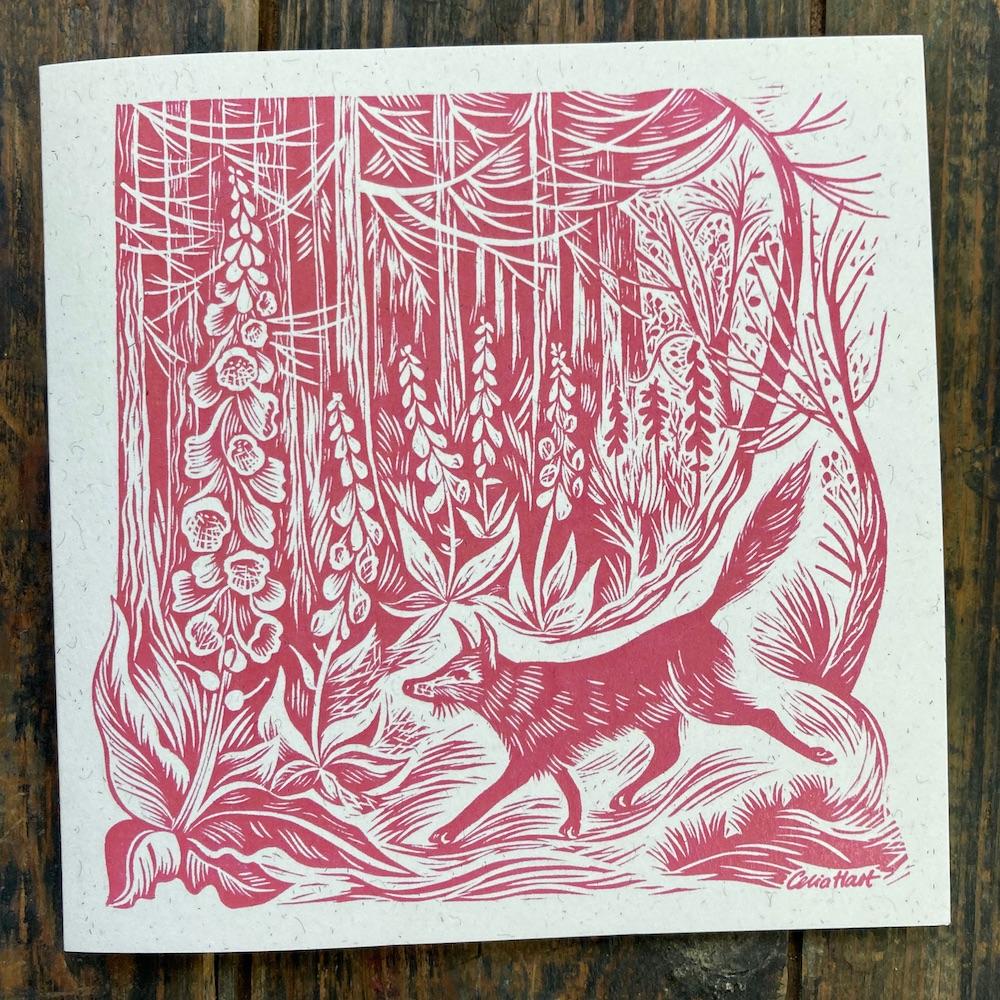 fox in the foxgloves