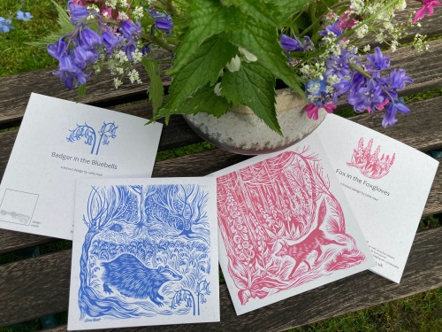 Fox and Badger cards F
