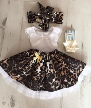 Leopard tutu and top