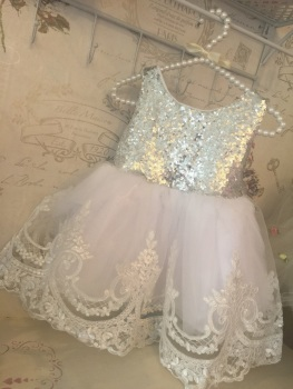 Lace Design Love Bow Tutu Dress