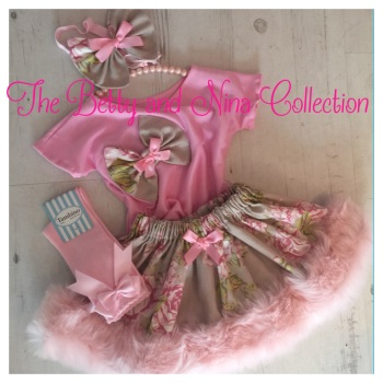 Toffee Pink Floral Set