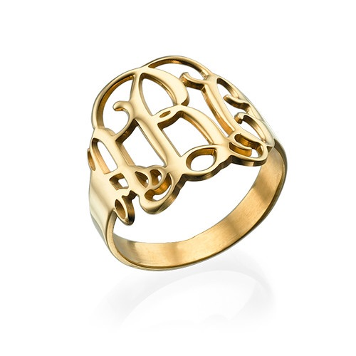 Monogram Gold Plated Ring