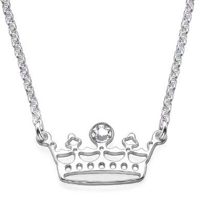 Princess Tiara Sterling Silver Necklace