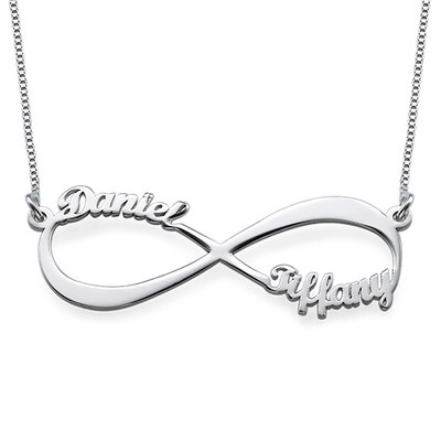 Cut Out Name Sterling Silver Infinity Necklace