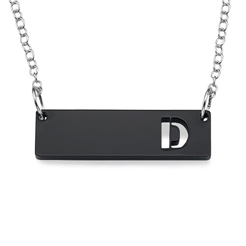 Acrylic Initial Bar Necklace