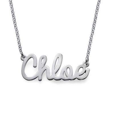 Cursive Sterling Silver Name Necklace