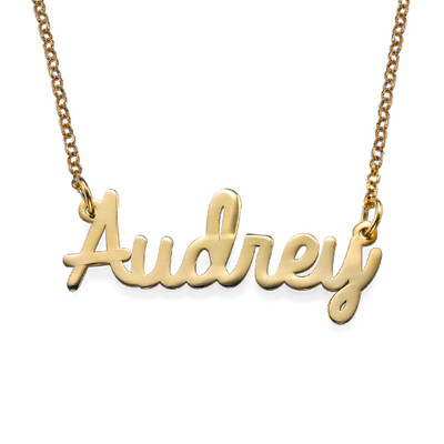 Cursive 18k Gold Plated Name Necklace