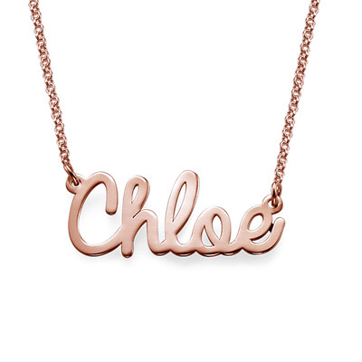 Cursive 18k Rose Gold Name Necklace
