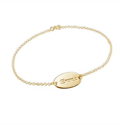 Children's Gold Plated Name Bracelet