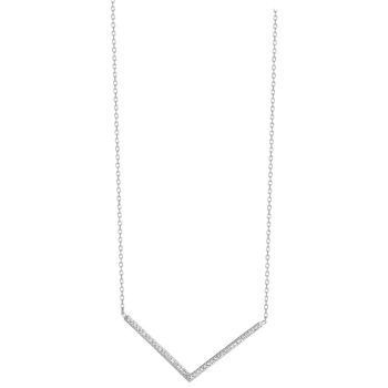 Chevron CZ Necklace