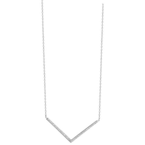 Chevron CZ Necklace