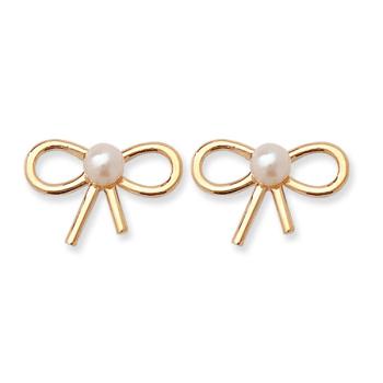 9ct Pearl Bow Earrings