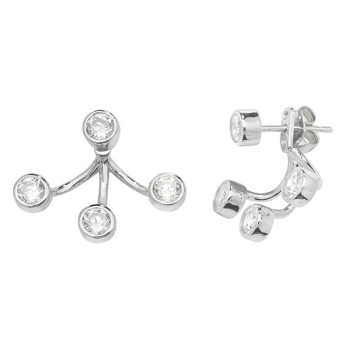 CZ Cuff Earrings