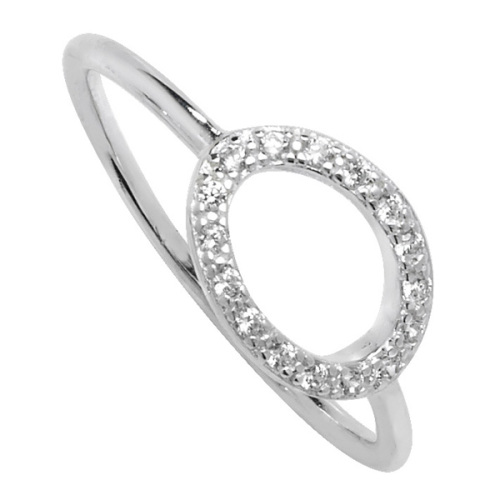 CZ Karma Circle Ring