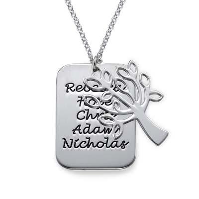 Family Tree& Dog Tag Necklace