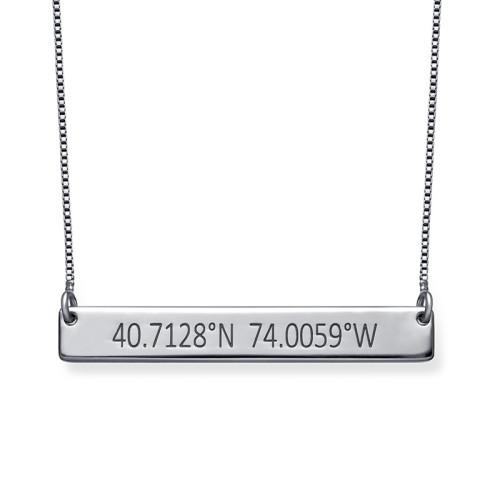 Coordinates Silver Necklace