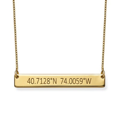 Coordinates Gold Plated Necklace