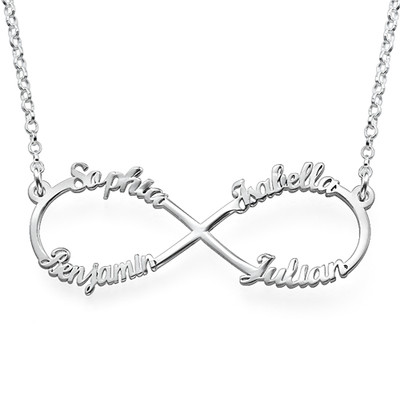 4 Name Inifinty Sterling Silver Necklace