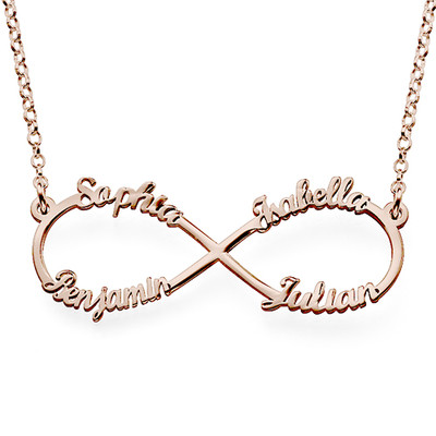 Name Inifinty Rose Gold Plated Necklace