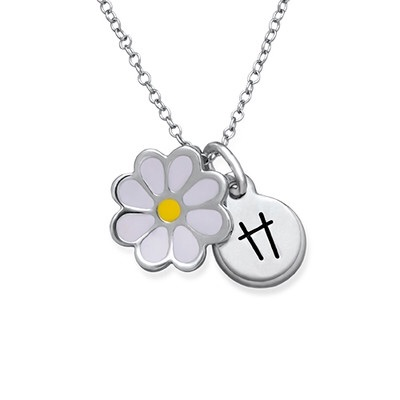 Daisy Initial Necklace