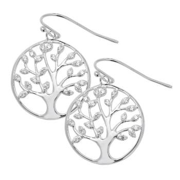 CZ Family Tree Earrings