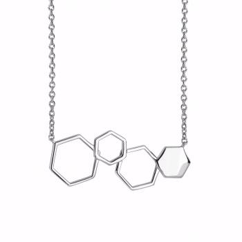 Geometric Hexagon Necklace