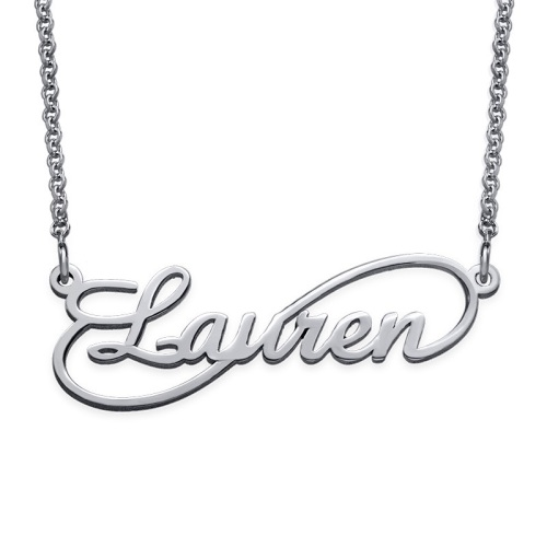 Infinity Name Necklace Sterling Silver