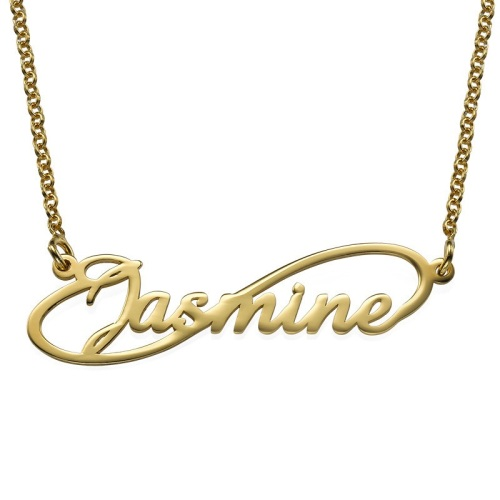 Infinity Name Necklace 18ct Gold Plated
