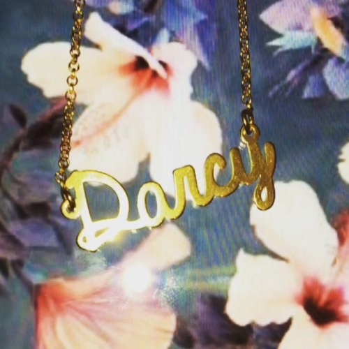 *SALE ITEM* 18ct gold plated Darcy name necklace on 18