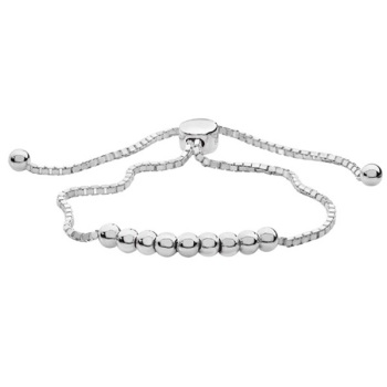 Ball Adjustable Sterling Silver Bracelet