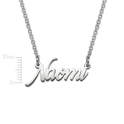 Miniture Name Necklace - Extra Strength Sterling Silver