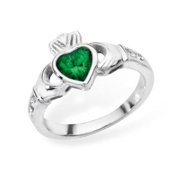 Claddagh May Birthstone Ring