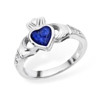 Claddagh September Birthstone Ring