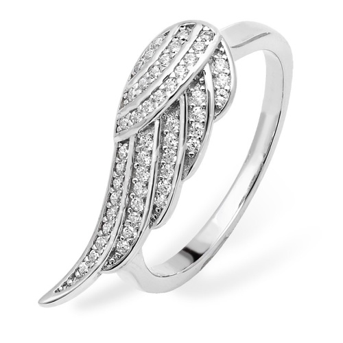 Single Wing CZ Ring