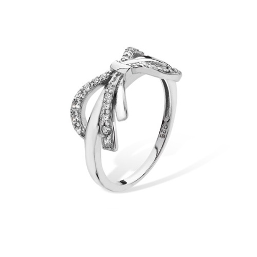 CZ Bow Ring