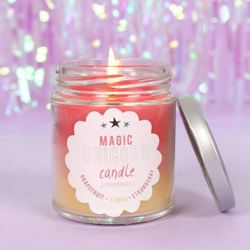 Magic Rainbow Unicorn Candle