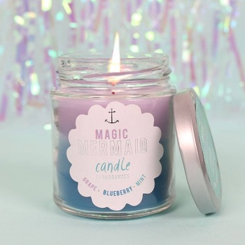 Mermaid Rainbow Candle