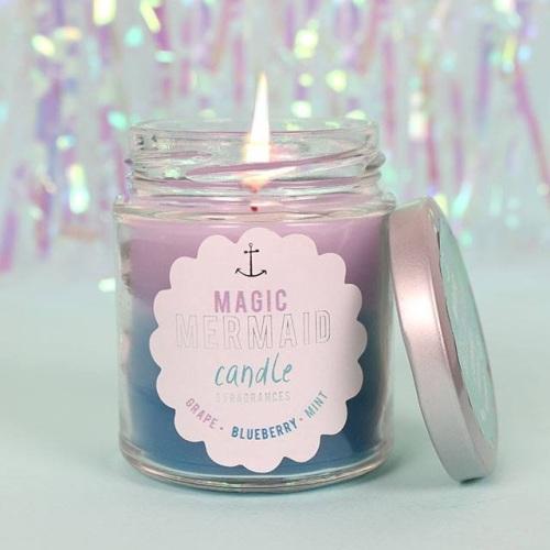 Mermaid Rainbow Candle